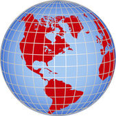 Globe North South America — Stock Photo