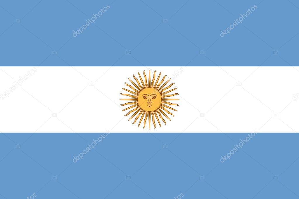 National Flag Argentina — Stock Photo #2428524