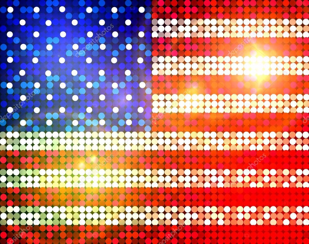 Sparkling flag of america — Stock Photo #2428719