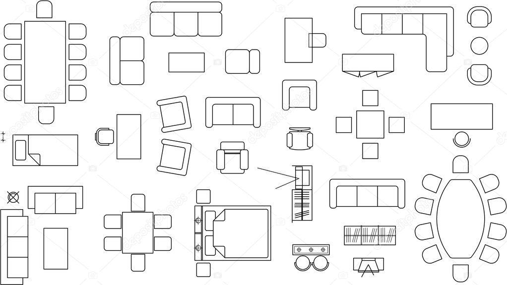 Furniture Blocks Stock Vector 169 Daneziv 2594103