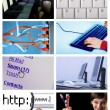 Internet technologie collage — Stockfoto