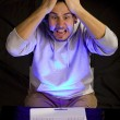 Stock Photo: Computer frustration