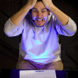 Computer frustration — Stock Photo
