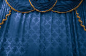 Bluestage curtain — Stock Photo