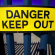 Stock Photo: Danger keep out