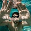 Underwater man — Stock Photo