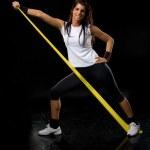 Fitness woman exercising — Stock Photo