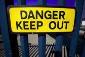 Danger keep out — Foto Stock