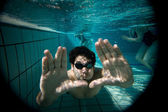 Pool portrait — Stockfoto