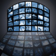 Stock Photo: Television media technology