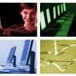 Foto de Stock  : Internet technology collage