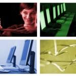 Internet Technologie collage — Stockfoto