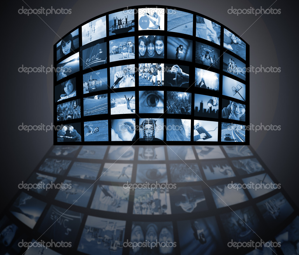 TV panels. Television media production technology — Stock Photo #1670574