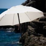 White sunshade — Stock Photo #1684693