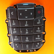 Stock Photo: Mobile phone spare part - keypad