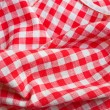 Red picnic cloth closeup detail — Stock Photo