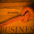 Business newspaper - Stock Photo