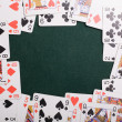 Stock Photo: Casino cards frame