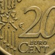 20 Euro cents macro — Stock Photo