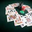 Casino poker table — Stock Photo #1689304