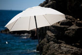 White sunshade — Stock Photo