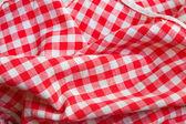 Red picnic cloth closeup detail — Stock Photo