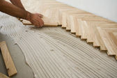 Parquet construction — Stock Photo