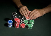 Casino poker table concept — Stock Photo