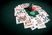 Casino poker table — Stock Photo