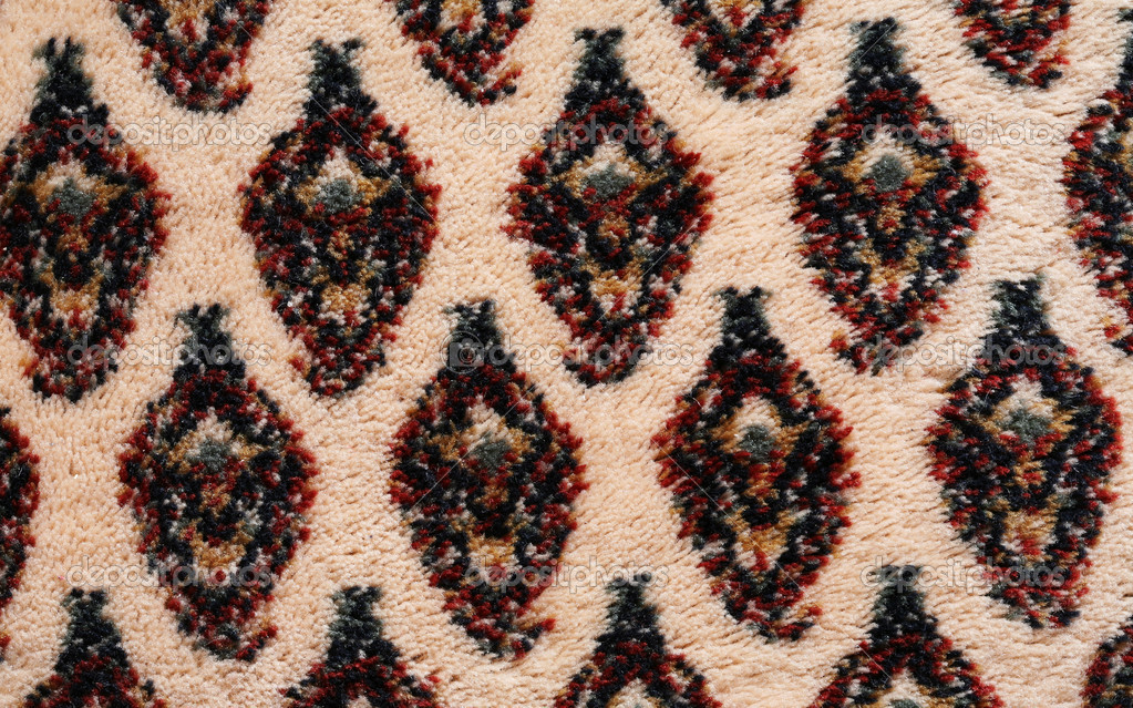 Extreme close up of oriental  carpet detail. High resolution background texture   #1686118