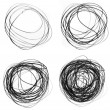 Scribble circles - Stock Photo