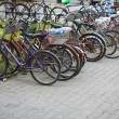 Stock Photo: Many bicycles