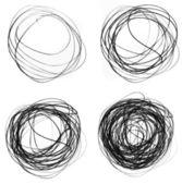 Círculos de rabisco — Fotografia Stock