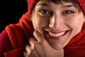 Happy face expression - honest smile — Stock Photo