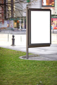 Public advertising promotion space — Stock Photo