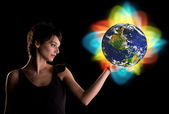 Changing the world — Stock Photo
