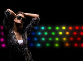 Nightclub lifestyle girl — Stock Photo