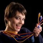 Internet-Netzwerk-Kabel — Stockfoto
