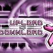 Upload and download internet — ストック写真