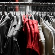 Fashion red T-shirts in colors — 图库照片