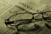 Finance and markets headline — Stock Photo