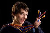 Internet network cables — Stock Photo