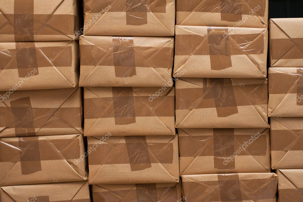 Pile of closed packages ready for shipping — Stock Photo #1703949