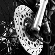 Drake disc on motorcycle wheel - Stock Photo