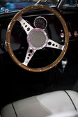 Steering wheel of an oldtimer — Stock Photo