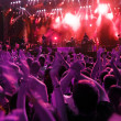 Crowd on rock concert — Stock Photo