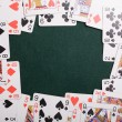 Casino cards frame — Stock Photo