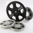 Film reels closeup - Stock Photo