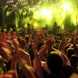 Crowd on rock concert - Stockfoto