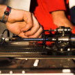 DJ - music turntable - Stock Photo